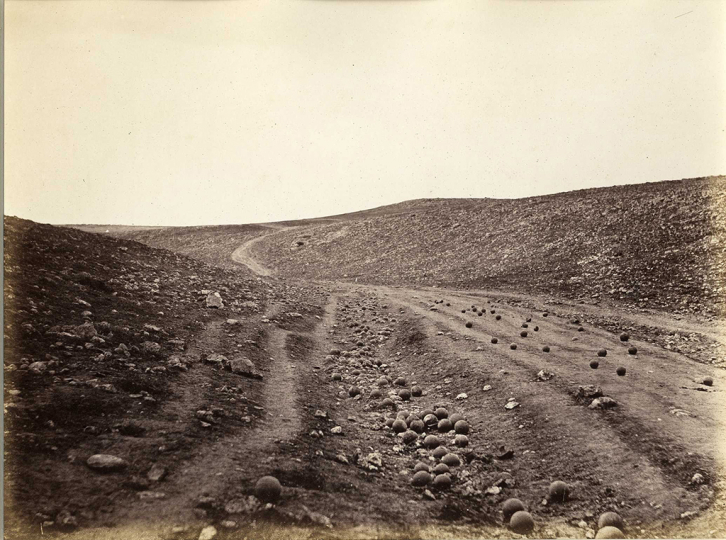 Roger Fenton The Valley of the Shadow of Death, 1855 Salt print Collection of Michael Mattis and Judy Hochberg
