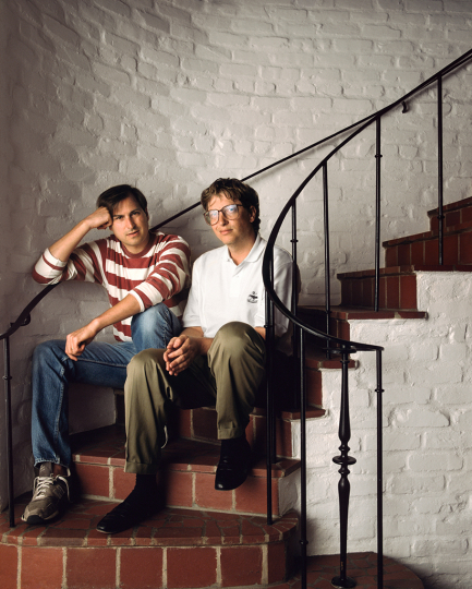 Steve Jobs and Bill Gates © George Lange