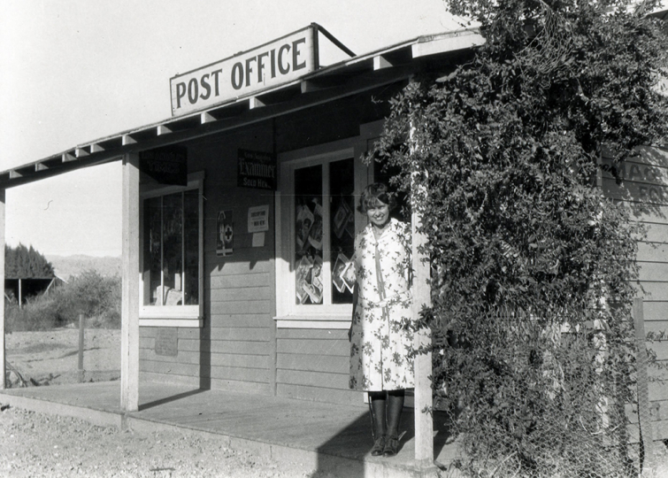 Susie Keef Smith, postmaster, Mecca, California PO 1929. Photographer: Lula Mae Graves
