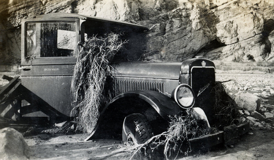 -- After the storm, Box Canyon, California, 1929. Photographer: Lula Mae Graves