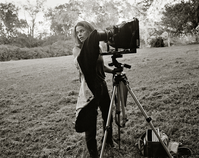 R. Kim Rushing, Sally with Camera, c. 1998, gelatin silver print, collection of Sally Mann. © Sally Mann