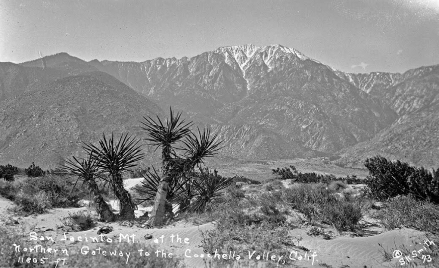 Mount San San Jacinto above Palm Springs, Calif. Susie Keef Smith postcard. Chris Ervin Collection