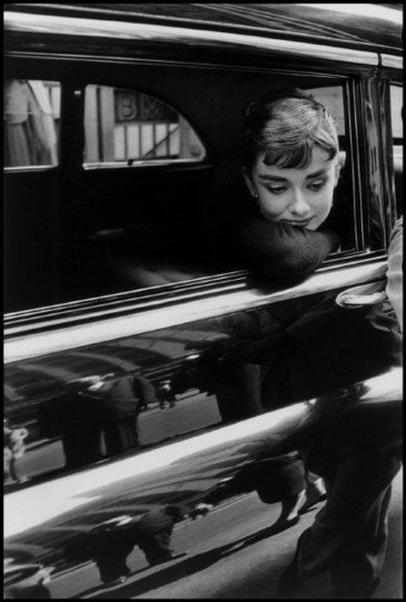 Dennis Stock - Audrey Hepburn during the filming of