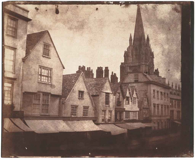 William Henry Fox Talbot St. Mary's Church on Oxford's High Street, 1843 Salt print Collection of Michael Mattis and Judy Hochberg