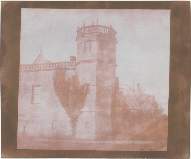 William Henry Fox TALBOT (English, 1800-1877) Sharington's Tower, Lacock Abbey, 6 April 1842 Salt print from a calotype negative 16.8 x 17.8 cm - Courtesy Hans P. Kraus Jr. Fine Photographs