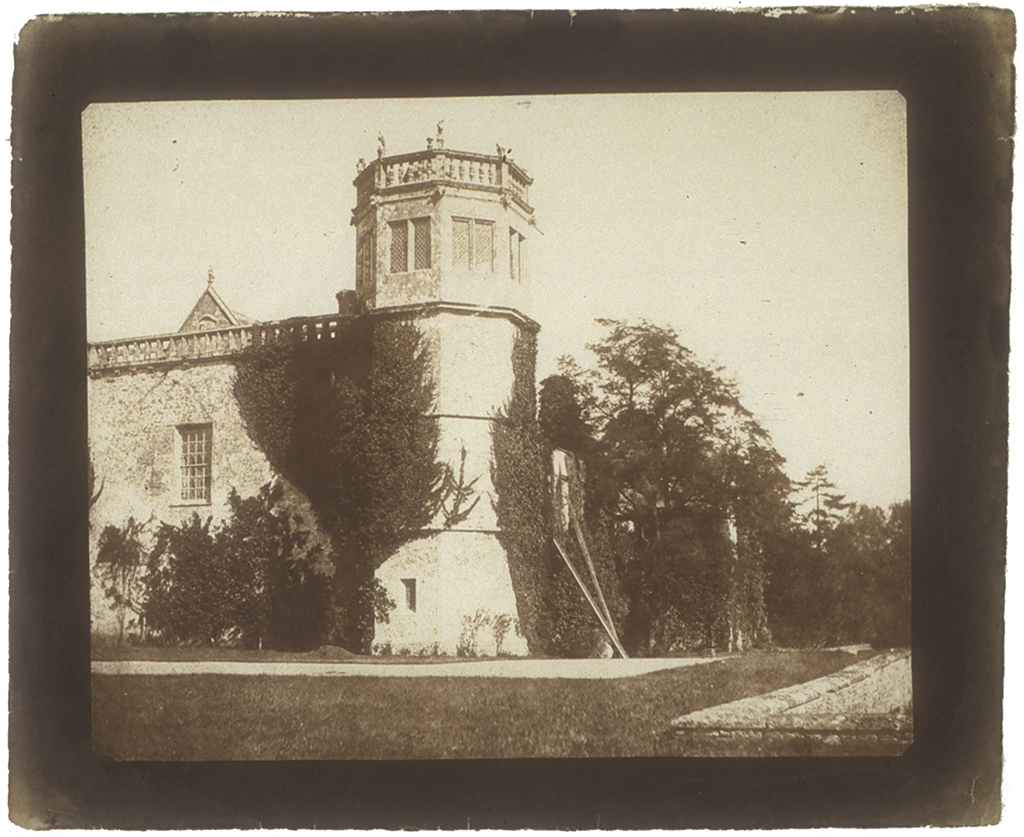 William Henry Fox TALBOT (English, 1800-1877) The Tower of Lacock Abbey, 1845 Salt print from a calotype negative 16.1 x 19.8 cm - Courtesy Hans P. Kraus Jr. Fine Photographs
