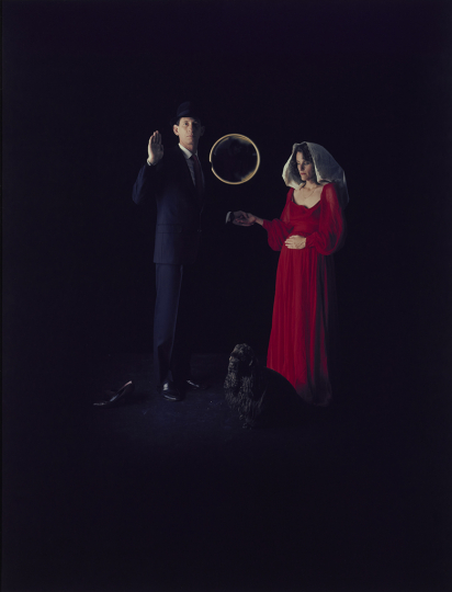 Eileen Cowin American, born 1947 Marriage of the Arnolfini, 1985 Dye diffusion print Image: 66 × 50.8 cm (26 × 20 in.) The J. Paul Getty Museum, Los Angeles, Gift of The Artist © Eileen Cowin