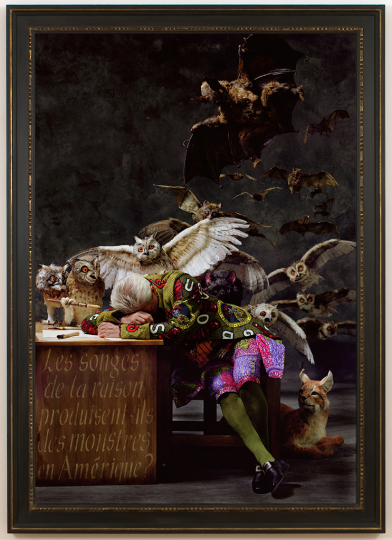 Yinka Shonibare British / Nigerian, born 1962 The Sleep of Reason Produces Monsters (America), 2008 Chromogenic print Image: 182 × 125.9 cm (71 5/8 × 49 9/16 in.) Collection of Michael W. Rabkin and Chip Tom © Yinka Shonibare CBE. Courtesy James Cohan, New York
