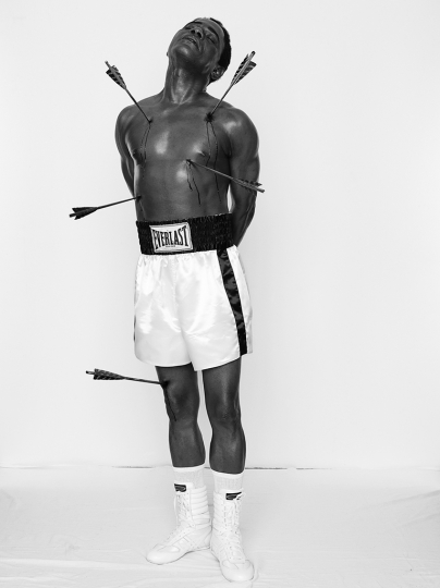Samuel Fosso Cameroonian, born 1962 Untitled (Muhammad Ali), 2008 Gelatin silver print Framed: 101.6 × 75.9 cm (40 × 29 7/8 in.) Isabel Stainow Wilcox © Samuel Fosso, courtesy Jean Marc Patras, Paris