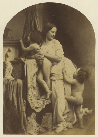 Madonna and Child with St. John the Baptist; Oscar Gustave Rejlander (British, born Sweden, 1813 - 1875); about 1860; Albumen silver print; 17.8 × 12.4 cm (7 × 4 7/8 in.); 84.XM.845.1 - Courtesy The J. Paul Getty Museum, Los Angeles