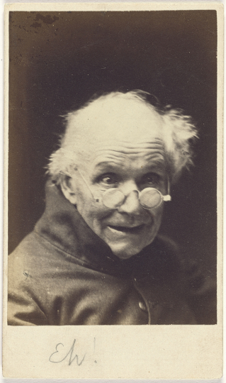 Eh!; Oscar Gustave Rejlander (British, born Sweden, 1813 - 1875); England; negative about 1854–1855; print about 1865; Albumen silver print; 8.9 × 5.9 cm (3 1/2 × 2 5/16 in.); 84.XM.845.14 - Courtesy The J. Paul Getty Museum, Los Angeles