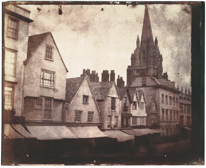 William Henry Fox Talbot, St. Mary's Church on Oxford's High Street, 1843, Salt print, Collection of Michael Mattis and Judy Hochberg