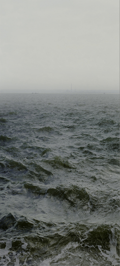 Water XVIII, (Shoeburyness towards Mulberry Defenses and on to Grain Power Station), England 2015 © Nadav Kander - Courtesy of Flowers Gallery