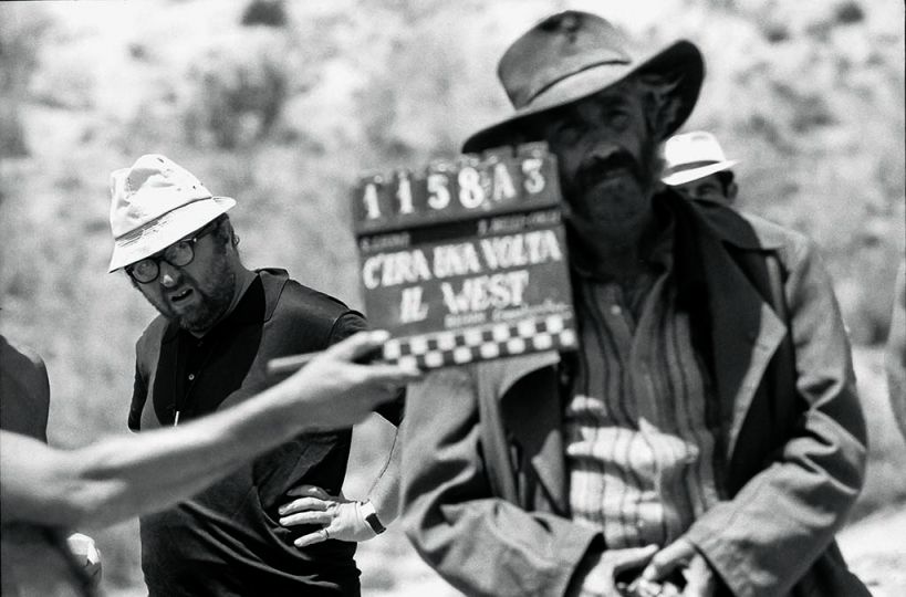 Sergio Leone and Jason Robards on set of Once Upon a Time in the West © Angelo Novi:Reel Art Press
