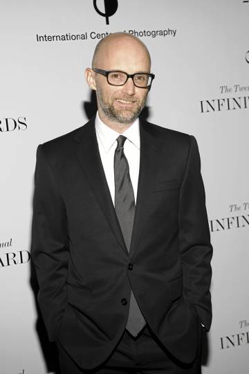 Moby at the 2010 Infinity Awards. Courtesy International Center of Photography. Photo by Martha Thorneloe.