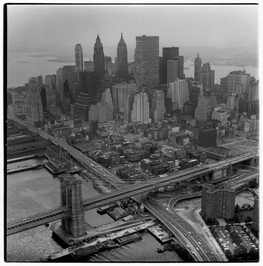Aerial View of Manhattan (variant), 1966 © Danny Lyon/Magnum Photos, courtesy Etherton Gallery, Tucson, AZ.