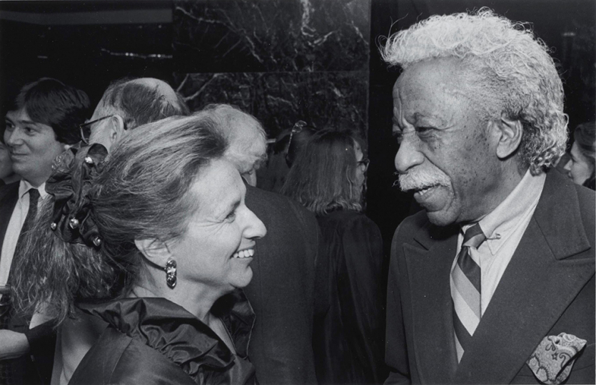 Lifetime Achievement Award honoree Gordon Parks at the 1990 Infinity Awards. Courtesy International Center of Photography. Photo by David J. Spear.