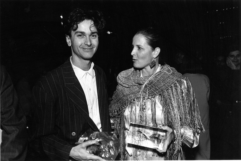 Young Photography Award honoree Paul Graham and Publication Award honoree Anne Tucker at the 1987 Infinity Awards. Courtesy International Center of Photography.