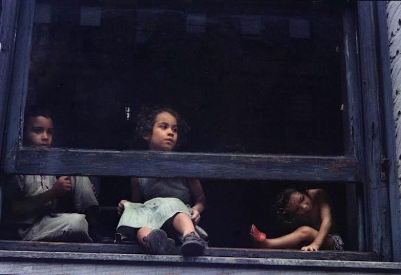 Helen Levitt N.Y.C. (girls in window) – Courtesy Equinox Gallery