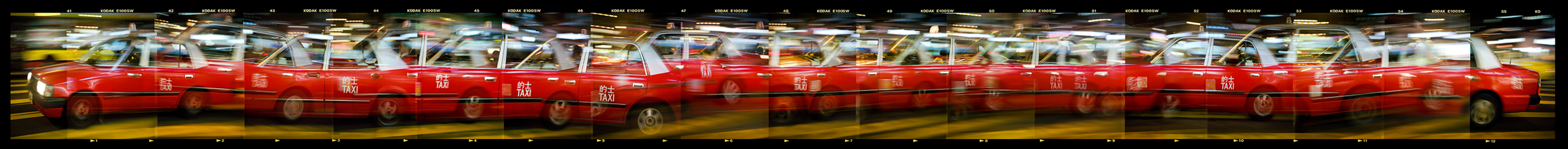 Hong Kong Taxi at Night 2002 © William Furniss