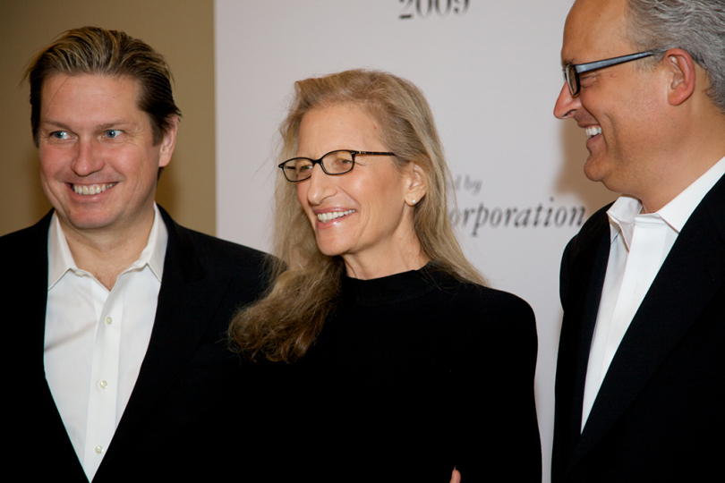 Honoree Annie Leibovitz at 2009 Infinity Awards. Courtesy International Center of Photography. Photo by Brandon Remler.