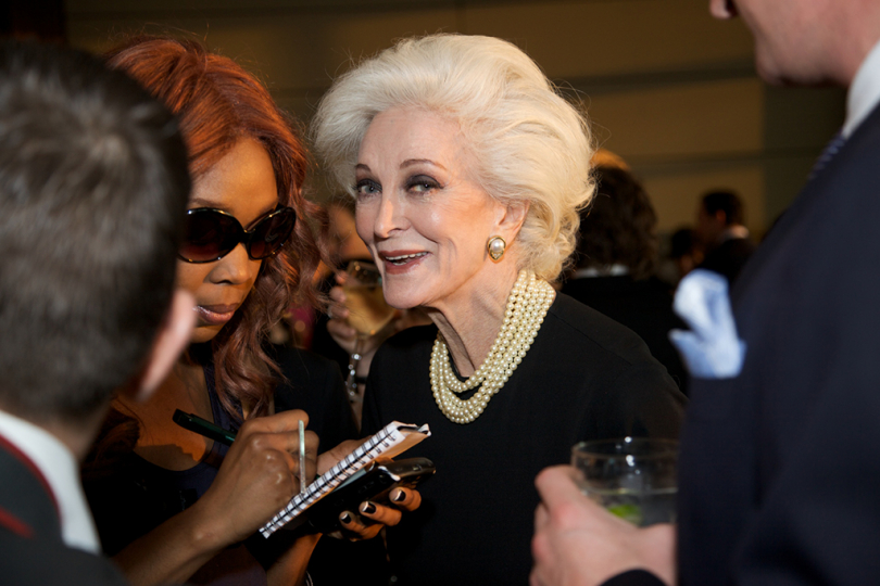 Carmen Dell'Orefice at 2009 Infinity Awards. Courtesy International Center of Photography. Photo by Brandon Remler.