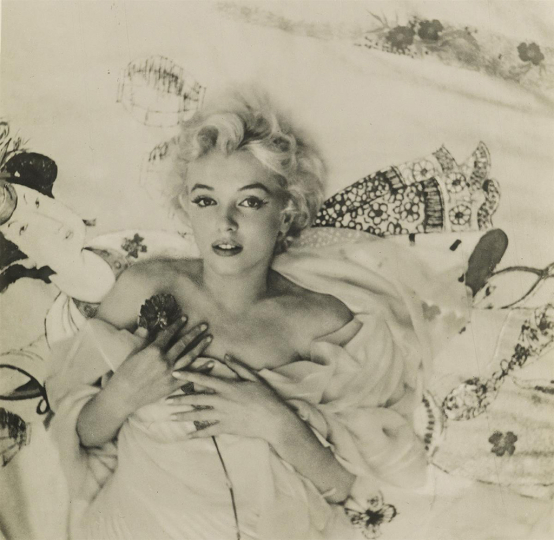 Lot 147: CECIL BEATON (1904-1980) Marilyn Monroe. Estimate $2,500 - $3,500. - Courtesy Swann Auction Galleries