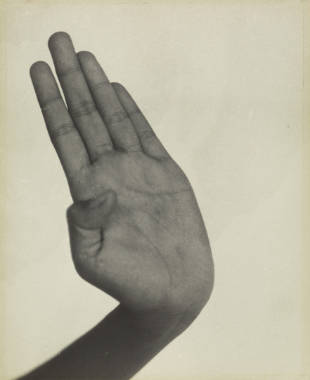 Lot 149: Dorothea Lange, Hand, Indonesian Dancer, Java, silver print, 1958, printed 1960s. Estimate $6,000 to $9,000. - Courtesy Swann Auction Galleries