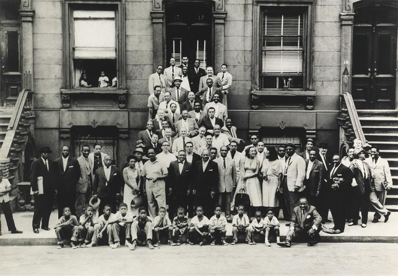 Lot 184: ART KANE (1925-1995) A Great Day in Harlem. Estimate $4,000 - $6,000. - Courtesy Swann Auction Galleries