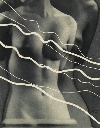 Lot 48: Man Ray, Electricité, 10 photogravures after the artist's rayographs, with text by Pierre Bost, 1931. Estimate $20,000 to $30,000. - Courtesy Swann Auction Galleries