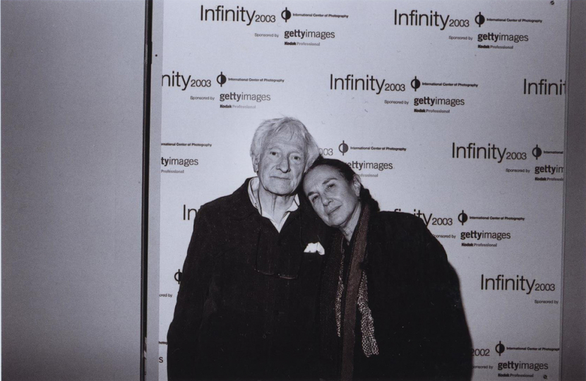 Cornell Capa Award honoree Marc Riboud and Mary Ellen Mark at the 2003 Infinity Awards. Courtesy International Center of Photography.