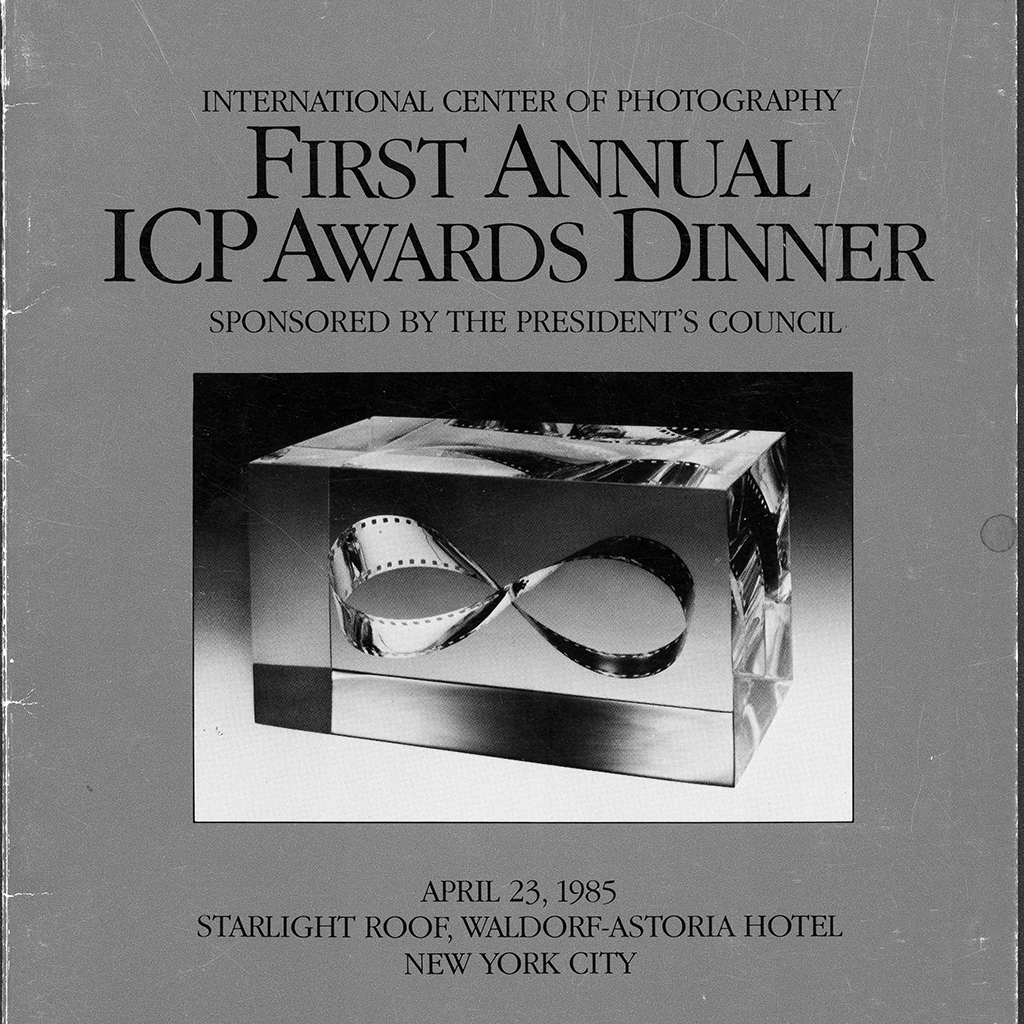 Cover of the first Infinity Awards pamphlet. Courtesy International Center of Photography.