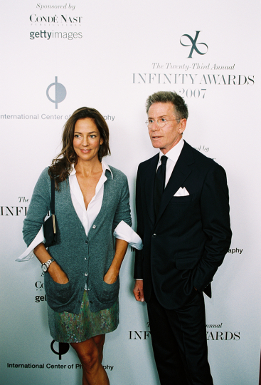 Calvin Klein and Kelly Klein on 2007 Infinity Award red carpet. Courtesy International Center of Photography. Photo by Jefferson Spady.