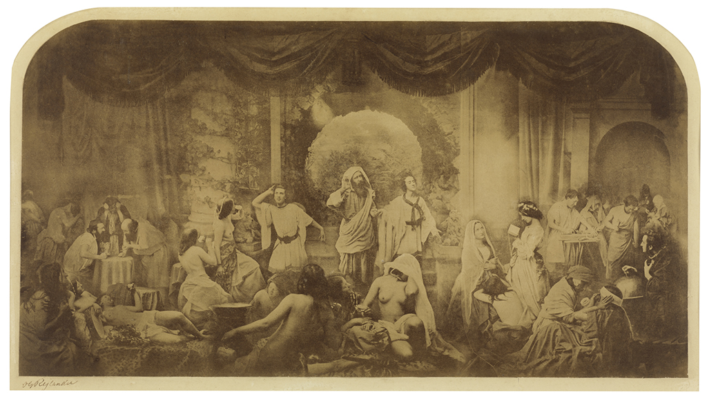 Oscar Gustaf Rejlander British, born Sweden, 1813–1875 Two Ways of Life (Hope in Repentance), 1857 Albumen silver print Image: 21.8 x 40.8 cm (8 9/16 x 16 1/16 in.) Moderna Museet, Stockholm