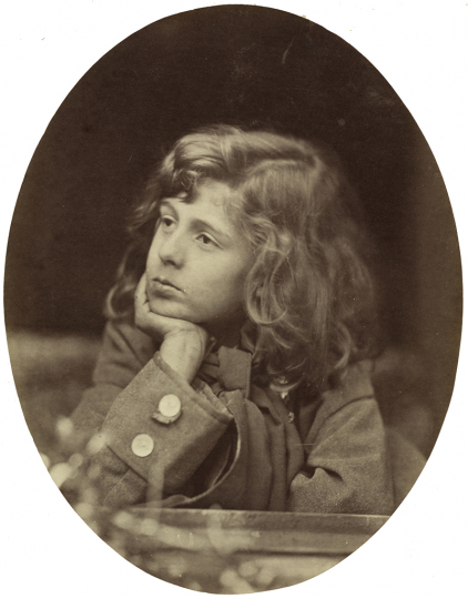 Oscar Gustaf Rejlander British, born Sweden, 1813–1875 Lionel Tennyson, about 1863 Albumen print from a wet collodion negative Image (oval): 18.3 x 14.3 cm (7 3/16 x 5 5/8 in.) National Gallery of Art, Washington, Paul Mellon Fund, 2007.29.39