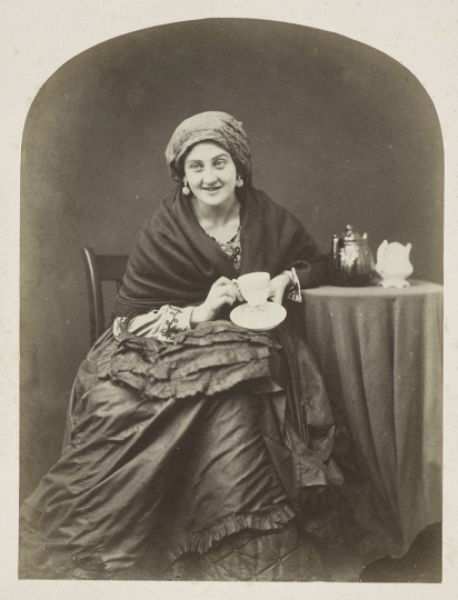Oscar Gustaf Rejlander British, born Sweden, 1813–1875 The Cup that Cheers, about 1860 Albumen silver print Image: 19.9 x 15 cm (7 13/16 x 5 7/8 in.) Princeton University Art Museum. Museum purchase, gift of Mr. and Mrs. Max Adler