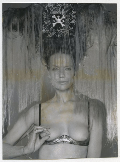 Veruschka in Vivienne Westwood, 1997 ©Gian Paolo Barbieri, Courtesy of 29 Arts in Progress gallery