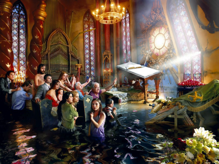After the Deluge: Cathedral, Los Angeles 2007, 2007 ©David LaChapelle; Chromogenic Print. Aluminum Dibond; 181 x 241,1