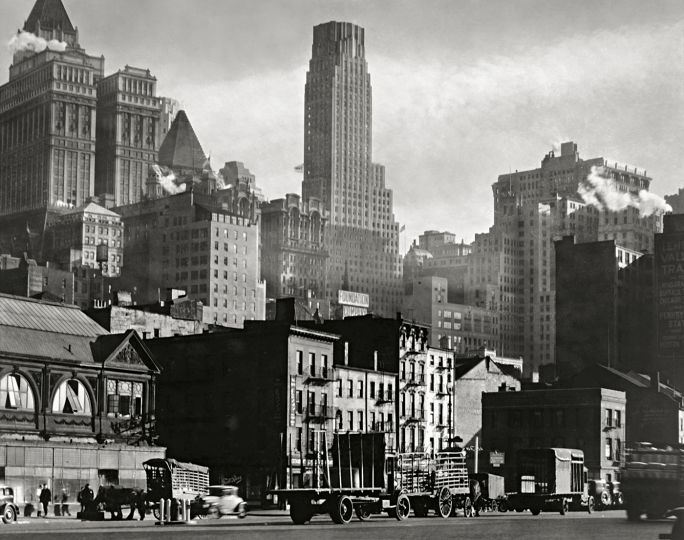 Berenice Abbott - West Street , 1932 19,1 × 24,3 cm International Center of Photography, Purchase, with funds provided by the National Endowment for the Arts and the Lois and Bruce Zenkel Purchase Fund, 1983 (388.1983)