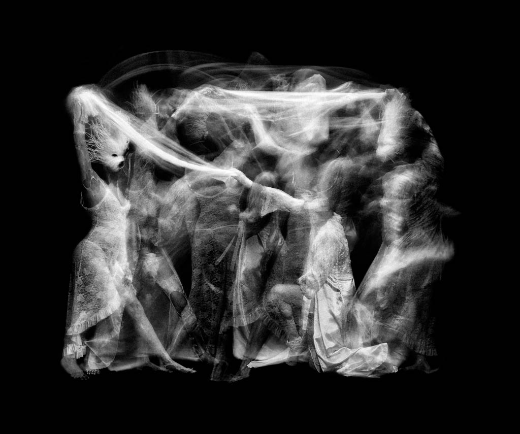 "The Dance of Hades  John Singletary  5 'x 3' OLED Installation Pigment Print 34"" x 44"""