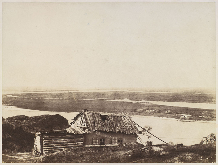 Roger Fenton - Cottage overlooking the Dnieper Russia 1852- Image credit Josh Haner The New York Times