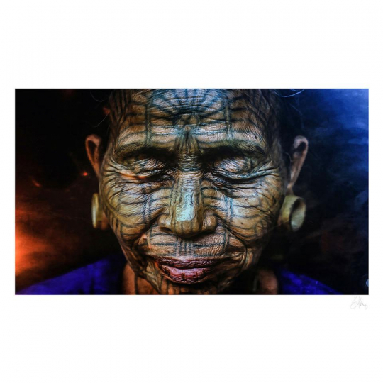 Russell Lee Klika, Tattooed lady, Chin state, Burma. Courtesy The Perfect Exposure Gallery