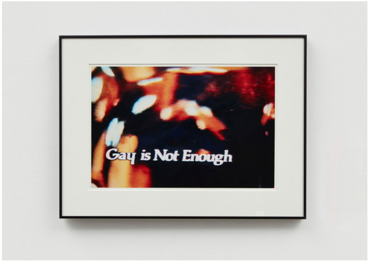 JOHN WATERS Gay is Not Enough, 2006 c-print 19.5 x 26.5 inches (framed) 49.5 x 67.5 cm edition 5 of 5 – Courtesy Postmasters Gallery