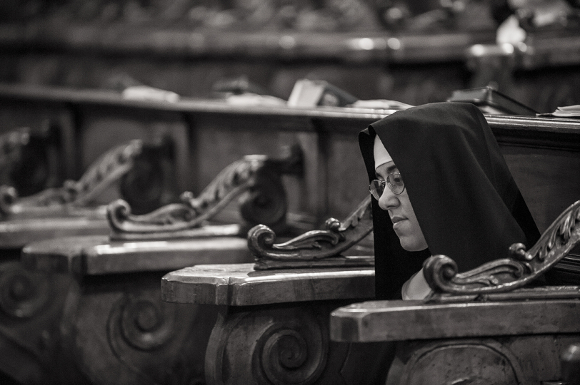 July 2011. The cloistered life of the Benedictine nuns of the monastery of San Benedetto in Catania, Italy. © Fabrizio Villa