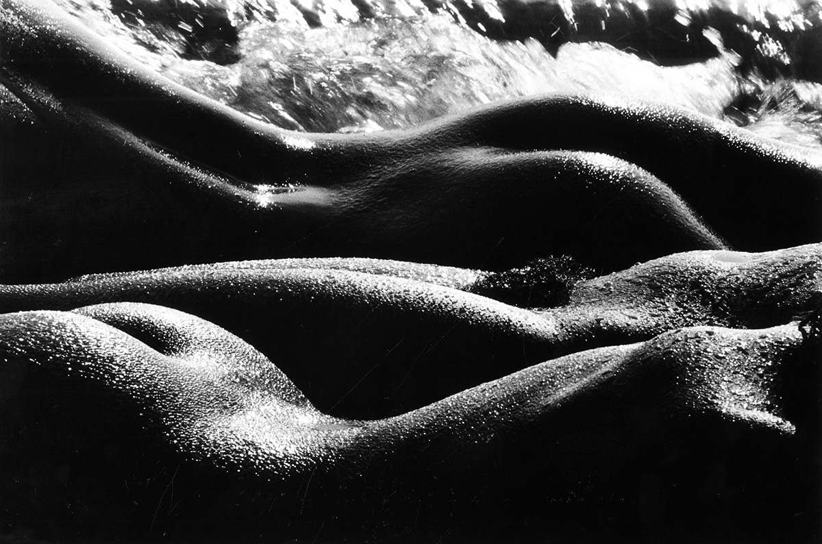 Lucien Clergue The Giants 1978 Gelatin Silver Print 11 1/4 x 16 in. Signed in ink on recto © Lucien Clergue – Courtesy Throckmorton Fine Art