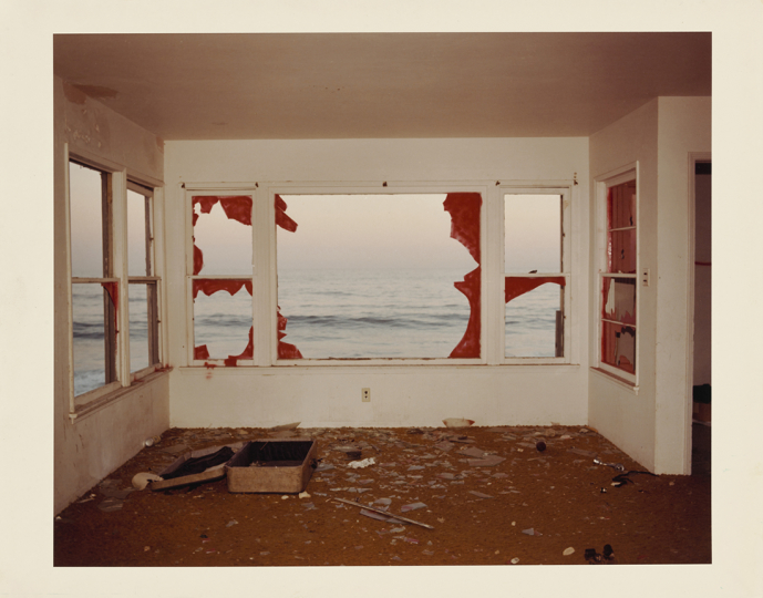 Zuma (untitled); John Divola (American, born 1949); Malibu, California, United States; 1977; Chromogenic print; 24.7 × 30.4 cm (9 3/4 × 11 15/16 in.); 2001.93.2 © John Divola - Courtesy The J. Paul Getty Museum, Los Angeles, Gift of the Wilson Centre for Photography