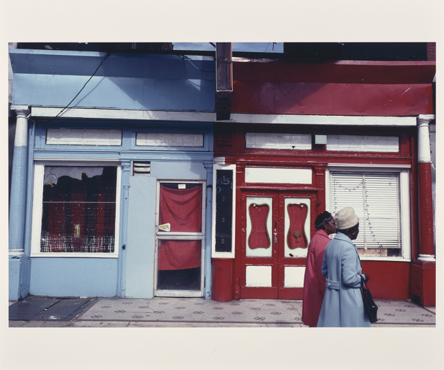 65 East 125th Street, Harlem; Camilo José Vergara (American, born Chile, 1944); Harlem, New York, New York, United States; October 1980; Chromogenic print; 37.8 × 58.5 cm (14 7/8 × 23 1/16 in.); 2016.165.46 © Camilo José Vergara – Courtesy The J. Paul Getty Museum, Los Angeles, Gift of Bruce Berman and Lea Russo