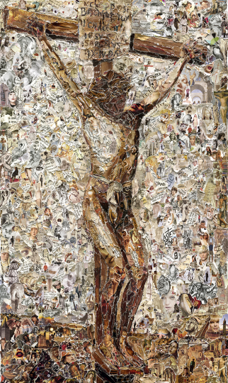 Crucifixion, after Thomas Eakins © Vik Muniz – Courtesy Collection Lambert