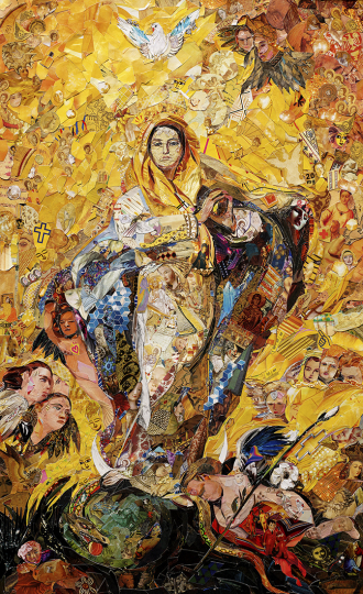 The Immaculate Conception, after Giovanni Battista Tiepolo © Vik Muniz – Courtesy Collection Lambert