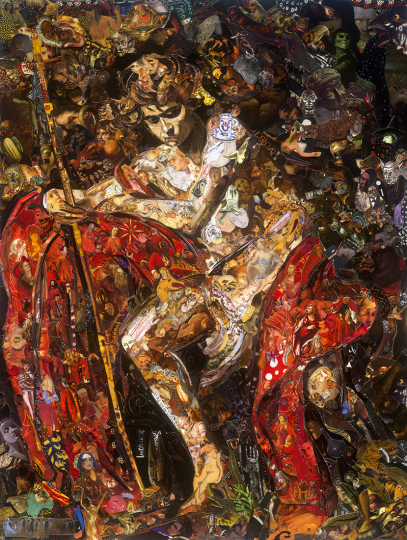 Saint John the Baptist in the Wilderness, after Caravaggio © Vik Muniz – Courtesy Collection Lambert